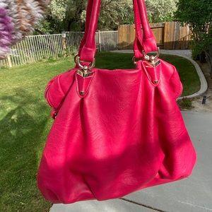 Miztique hot pink leather satchel purse
